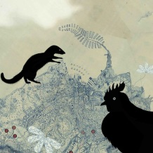 Mongoose and Jungle Fowl (collage, 2013)